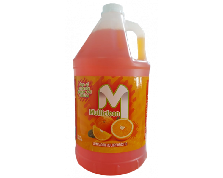 MULTICLEAN LIMPIADOR MULTIPLE USO NARANJA GALON